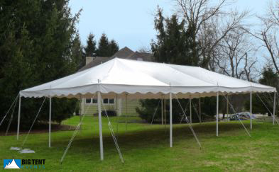 20u0027x40u2032 White Party Tent Rental. 20 x 40 ... & Size And Colors | Big Tent Events