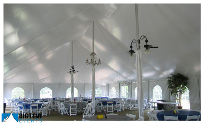 Pole tents have center poles that support the main weight of the tent. Side poles with straps are placed around the perimeter and secured with stakes to ... & Wedding Tent Styles   Big Tent Events