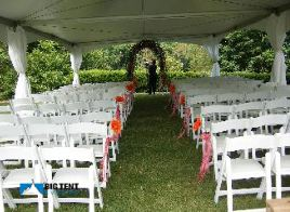 Wedding Ceremony Tent rentals let people who love the outdoors to have an outdoor ceremony area that will protect guests from the elements. & Big Tent Events Wedding Ceremony seating | Big Tent Events