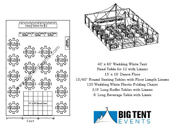 Reception Seating 120 Guest Big Tent Events